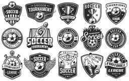 Set piłka nożna emblematy royalty ilustracja