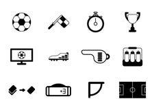 Set piłki nożnej lub futbolu ikona ilustracja wektor