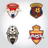 SET piłki nożnej odznaki logo Ilustracja Wektor