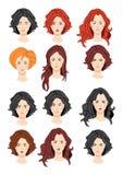 Set piękni kobieta portrety Obraz Stock