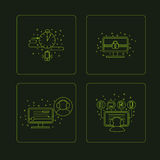 Set of pictogramm of computer symbols. Stock Image