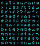 Set of pictograms Stock Photos