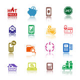 Set pictograms Shopping Icons Royalty Free Stock Photography