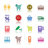 Set pictograms supermarket services Royalty Free Stock Photo