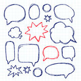 Set picture blank template comic text speech chat bubble. Vector Stock Image