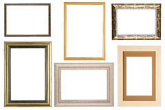 Set of picture frame on white Royalty Free Stock Images