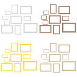 A set of picture frames. Flat design, illustration royalty free illustration