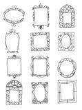 Set of picture frames stock illustration
