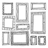 Set picture frames, hand drawn vector illustration. Stock Image