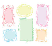 Set picture frames, hand drawn vector illustration. Royalty Free Stock Images