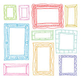 Set picture frames, hand drawn vector illustration. Stock Images