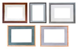 Set of picture frames with passepartout isolated Stock Photos