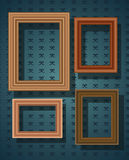 Set of picture frames Royalty Free Stock Photo