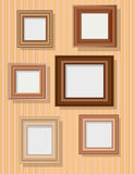 Set of picture frames Stock Photography