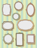 Set of picture frames Royalty Free Stock Images