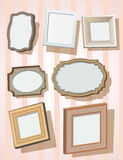 Set of picture frames Royalty Free Stock Photography