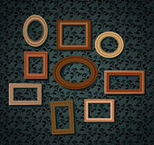 Set of picture frames Royalty Free Stock Image
