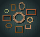Set of picture frames Stock Photos