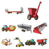 Cars to robots to the ground.Agricultural Machinery icon in set collection Stock Photo
