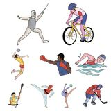 A set of pictures about athletes.  Royalty Free Stock Photo