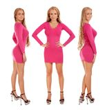 Set of pictures of blond woman Royalty Free Stock Photo