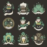 Set of pictures for St. Patrick's Day Royalty Free Stock Images