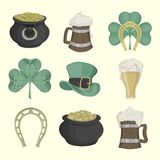 Set of pictures for St. Patrick's Day. Colored Stock Images