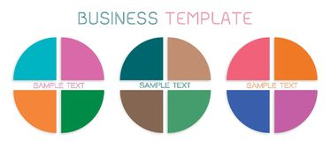 Set of Pie Chart Templates for Business Concepts Royalty Free Illustration
