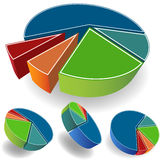Set of Pie Charts. 3D image of isometric pie charts Stock Image