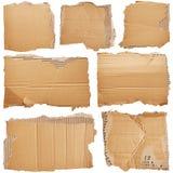 Set of pieces of cardboard Stock Photos
