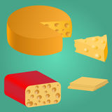 Set. Pieces of cheese. Set Pieces of cheese. Series food. Delicious foods Stock Photography