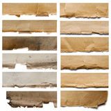 Set of fragments texture Royalty Free Stock Images