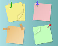 Set pieces of paper of different colors Stock Image