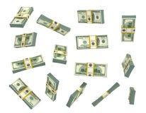 Set pieniądze w różnym widoku odizolowywającym na bielu Fotografia Royalty Free