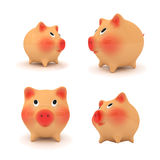 Set of piggy bank. Stock Photography