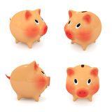 Set of piggy bank. Stock Photos