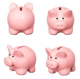 Set of piggy banks from different angles Stock Photos