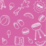Set of piknik doodle art Stock Photo
