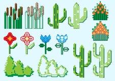 Set piksel rośliny Obrazy Stock