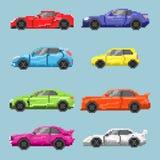Set piksli barwioni samochody Fotografia Stock