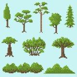 Set piksli drzewa dla gier Fotografia Stock