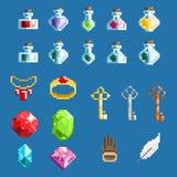 Set piksli elementy dla gier Zdjęcie Royalty Free