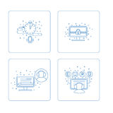 Set piktogram w pudełku Zdjęcie Stock