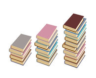 Set  pile of books on a white background. Vector illustration Stock Photos