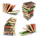 Set of pile of colorful books Stock Image