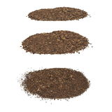 Set pile dirt isolated on white Royalty Free Stock Photos