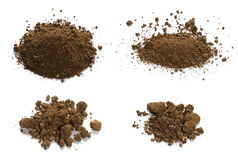 Set pile dirt isolated on white background Stock Photography
