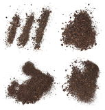 Set pile dirt isolated on white background Stock Images