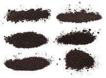Set pile dirt isolated on white background Royalty Free Stock Images