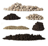 Set pile of soil Royalty Free Stock Photography